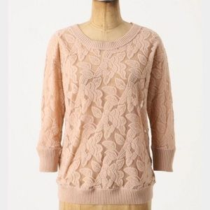ANTHROPOLOGIE | Eloise lace pullover sweater 0319